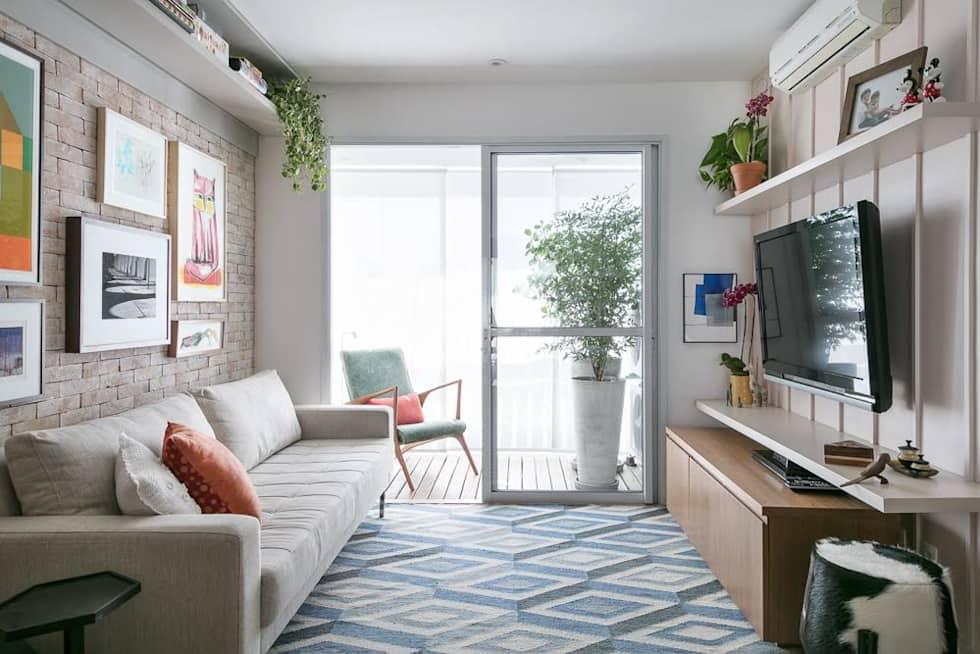 Salas pequenas 70 inspira es muito estilosas para a sua for Sala cocina pequena