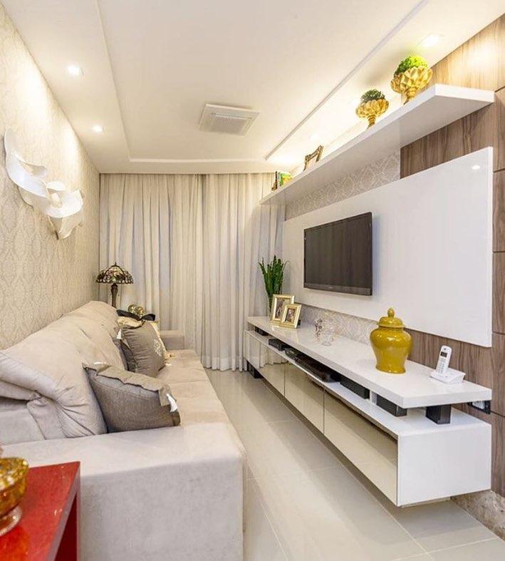 Salas pequenas 70 inspira es muito estilosas para a sua - Combinar papel y pintura ...