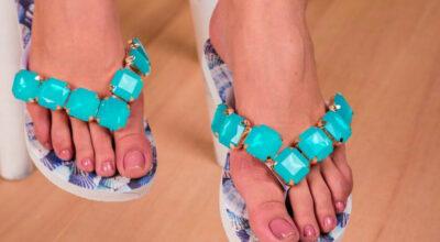 Chinelos bordados para arrasar no verão com conforto e estilo