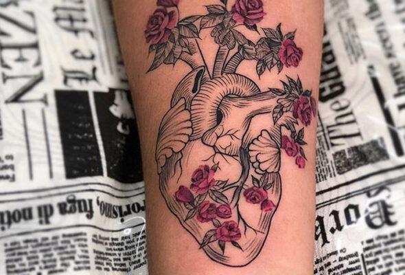 65 inspirações de tatuagens de coração que vão te deixar encantada
