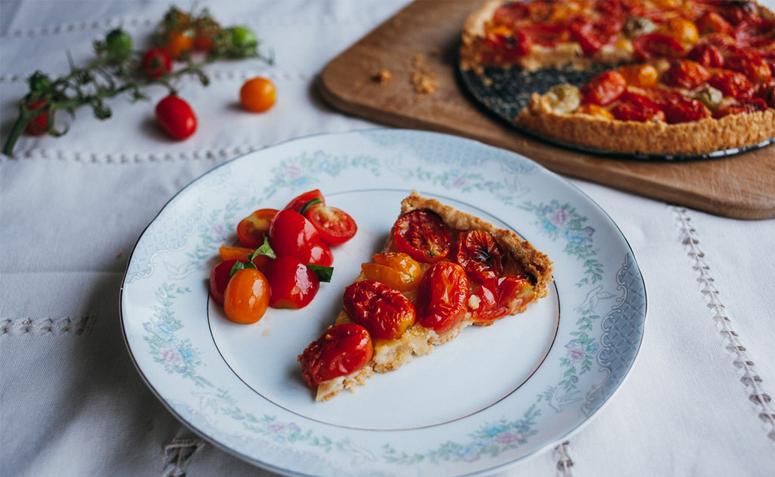 Imagem de torta salgadas de tomates