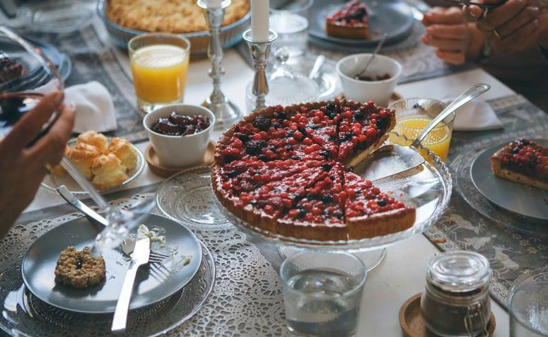 Imagem de torta doce de frutas vermelhas