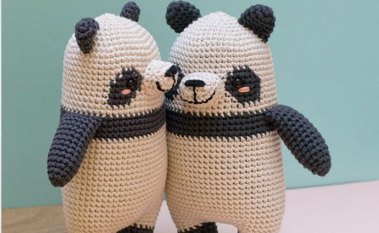 Receita Família Panda com Fio Amigurumi - Blog do Bazar Horizonte | 477x775