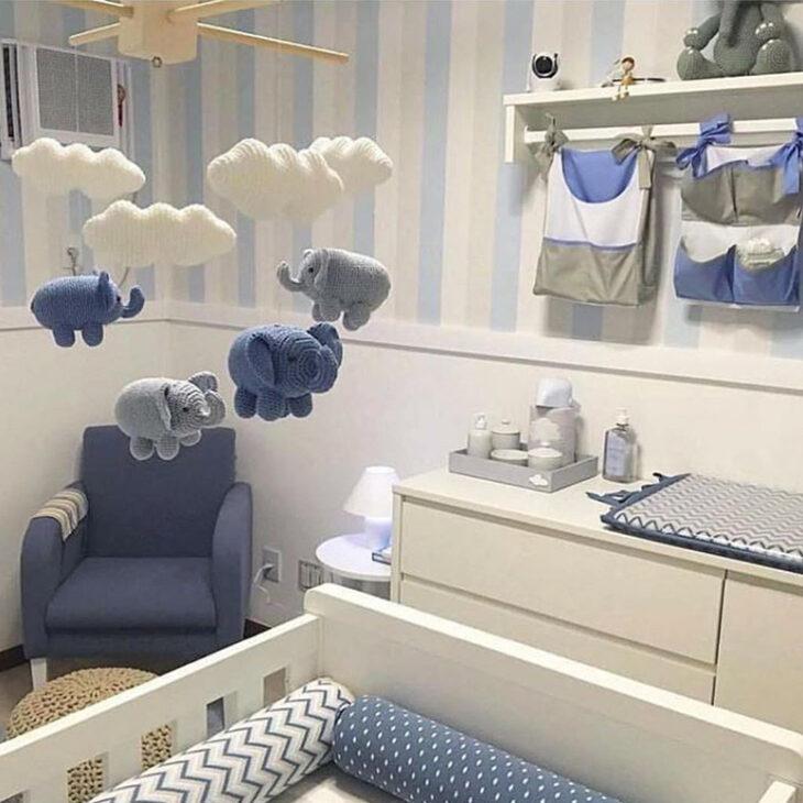 Mil Ideias De Decoração Quartos De Bebé: Quarto De Bebê Com Tema Nuvem: 50 Fotos E Ideias Legais