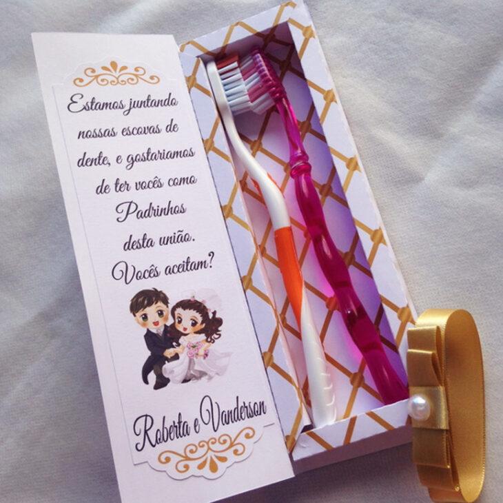 b63b909cc Convite para padrinhos de casamento  40 ideias para você surpreendê-los