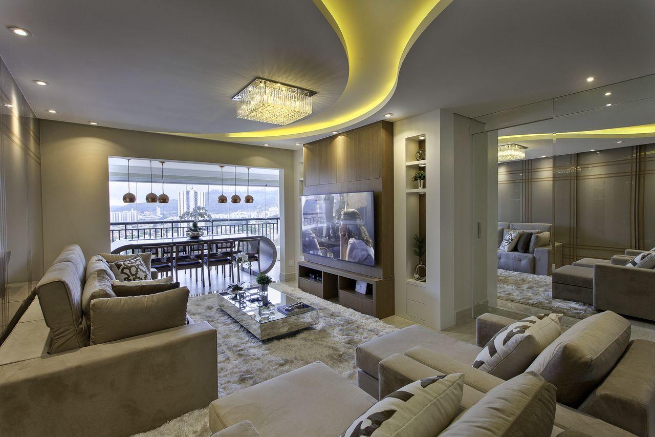 Luminaria De Teto Para Sala De Estar Luminria De Teto Em Forma De  -> Lustre Para Sala De Tv