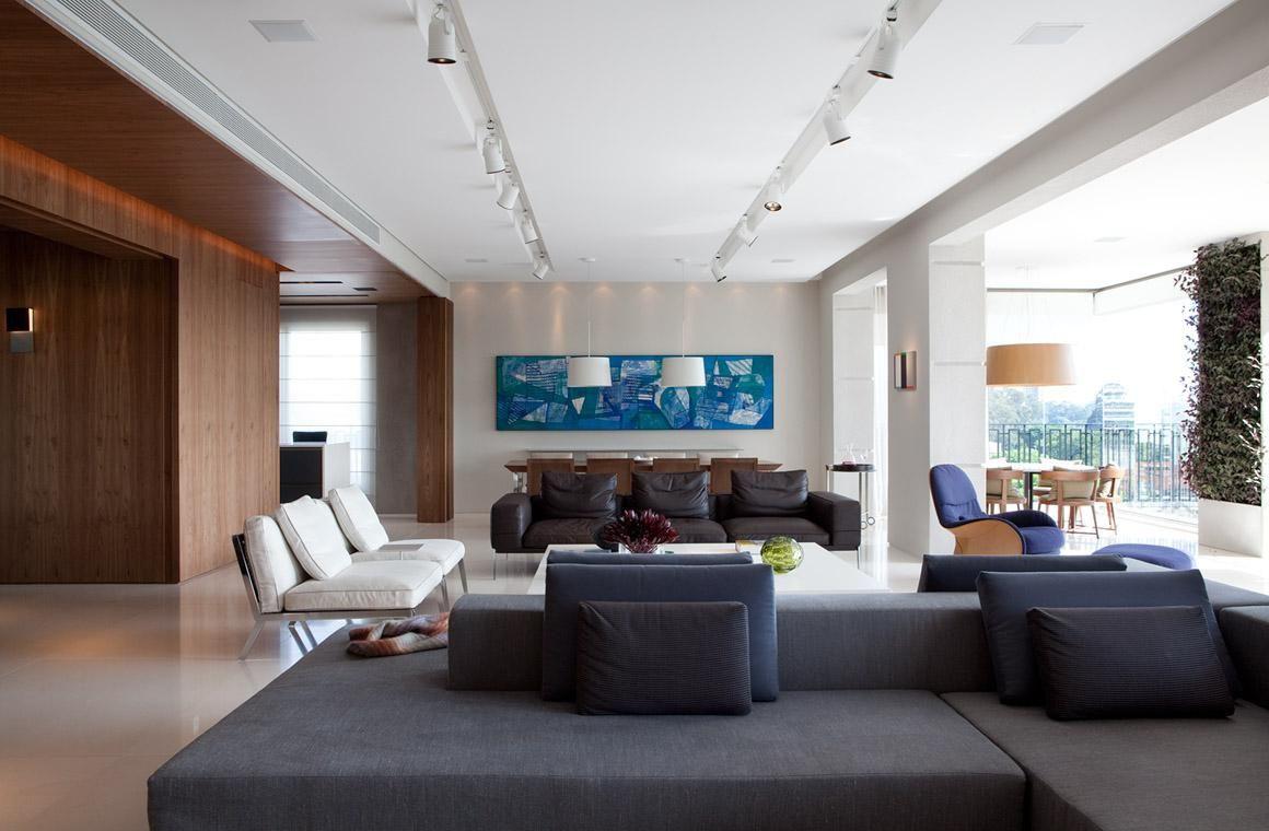 Quadros Para A Sala 70 Inspira Es E Dicas Para Incrementar O Ambiente -> Decoracao De Sala Azul