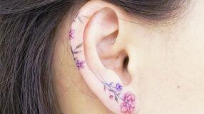 60 tatuagens na orelha inspiradoras que te deixarão apaixonada