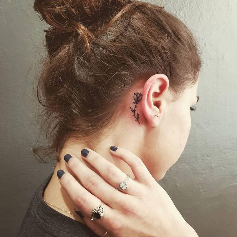 Tatuagem Na Orelha 60 Ideias Lindas Que Te Deixarão Encantada