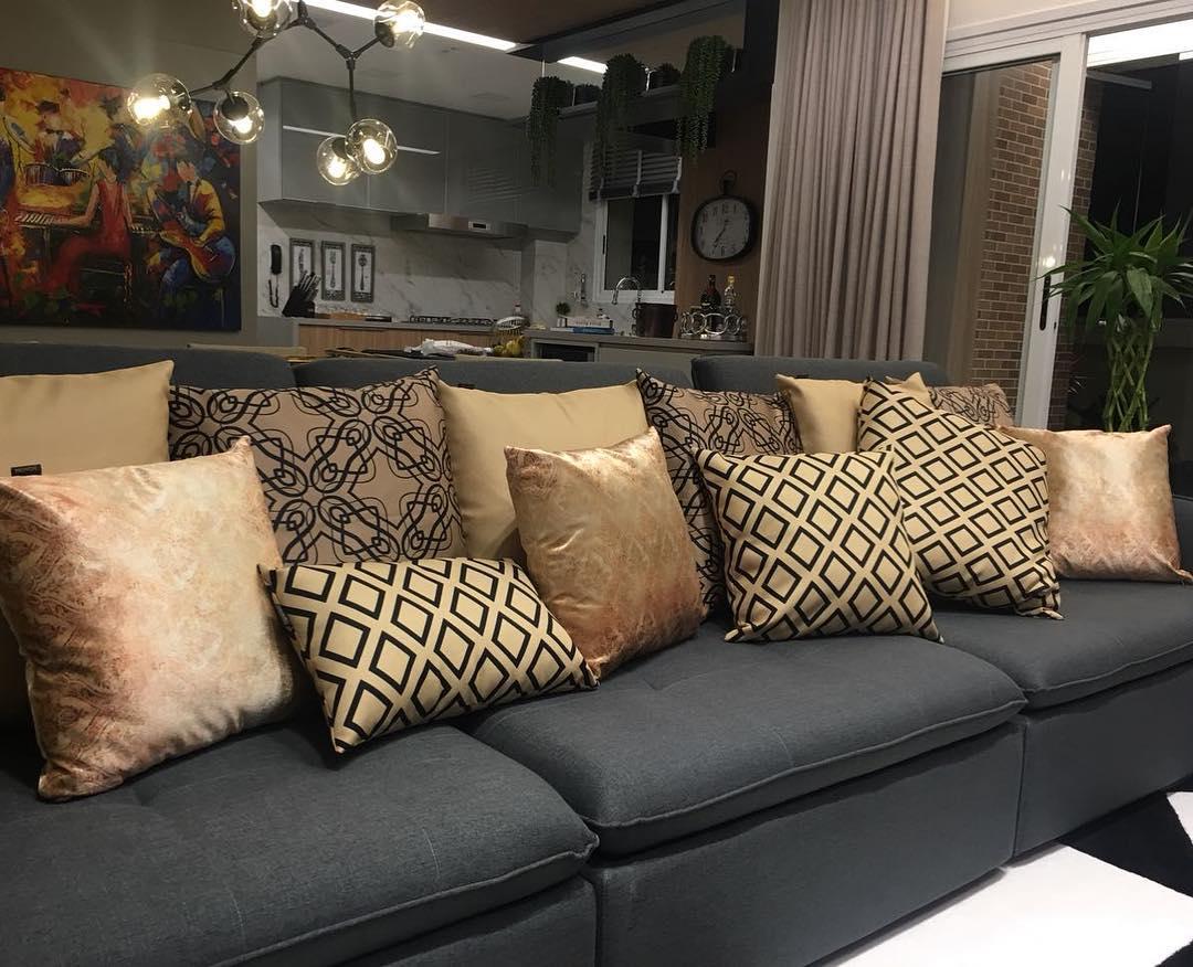 Almofadas decorativas  85 modelos para se apaixonar (e aprender como ... d227ad6a71