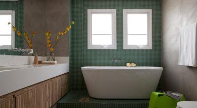 100 fotos de banheiros com banheira que vão fazer você suspirar