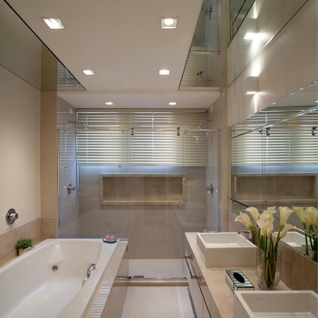 Banheiro Com Banheira 100 Projetos Para Voce Suspirar Fotos