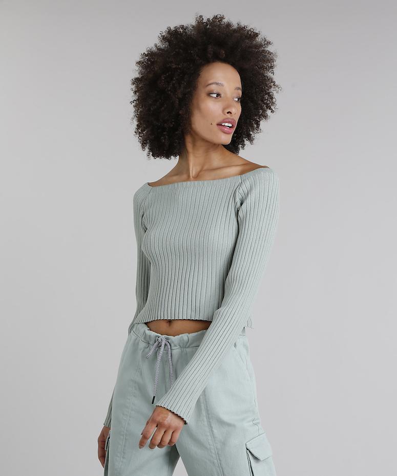 Resultado de imagem para blusa decote canoa trico colorido look