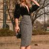 Saia social: veja como compor looks formais com essa peça sofisticada