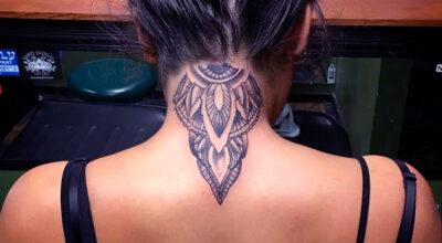 70 tatuagens na nuca que mostram a versatilidade do local