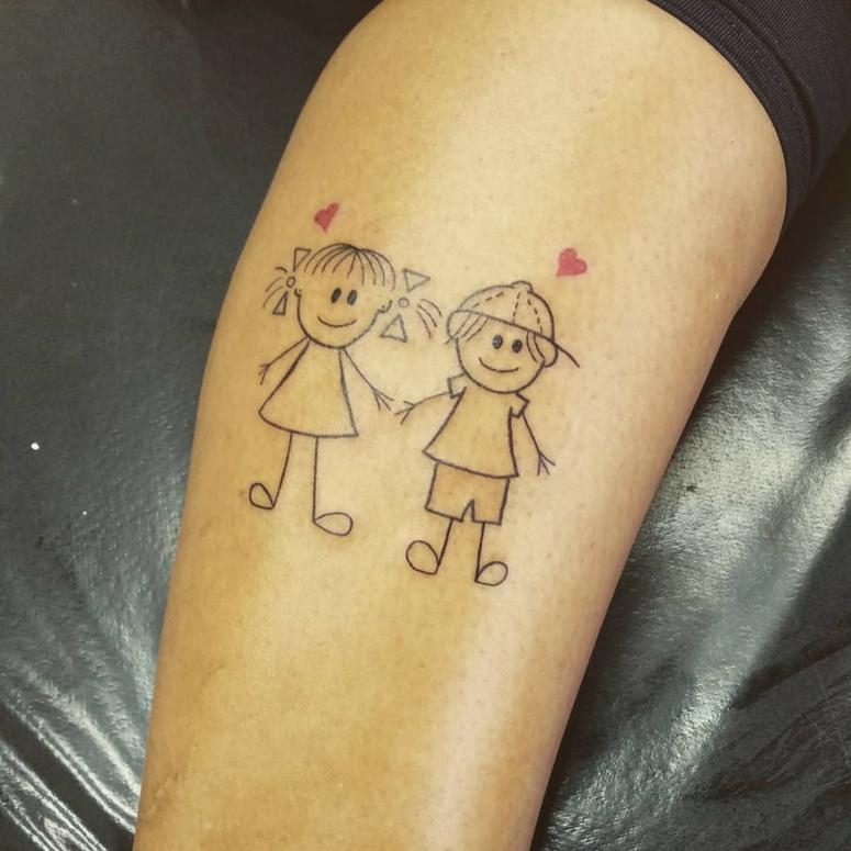 Fotos De Tatuagem De Pai E Filha: Tatuagem Para Filhos: 90 Ideias Para Gravar Seu Amor De