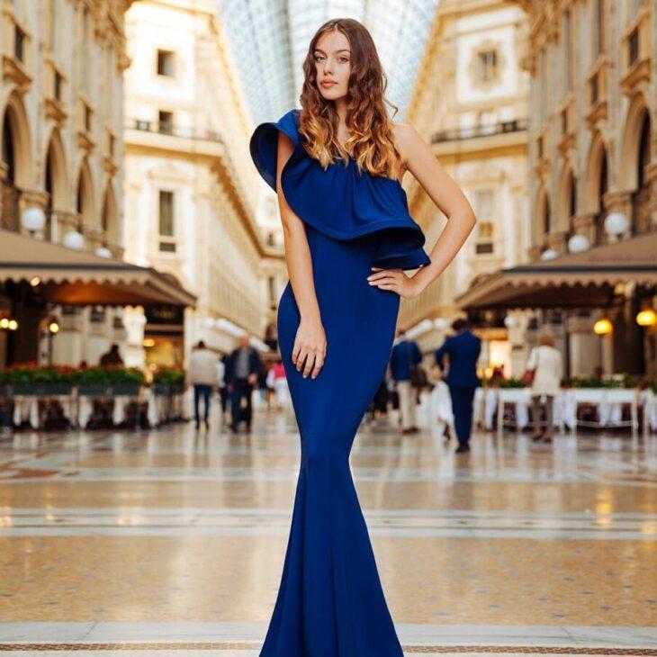 Azul vestido combinar