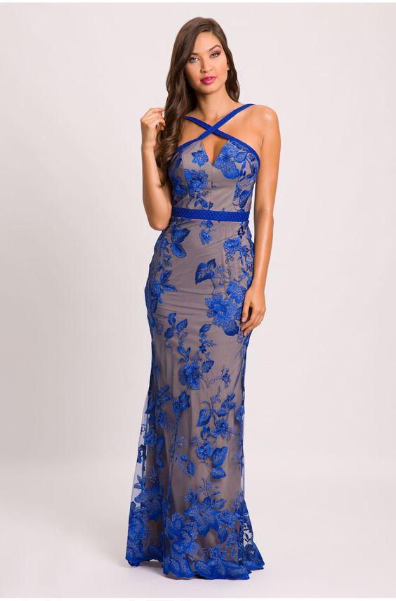 Vestido Azul Royal 60 Fotos Com A Peça Para Abraçar Essa