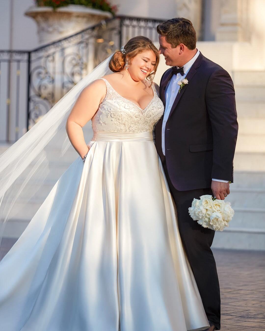 c3765388ea5d Vestido de noiva plus size: 65 fotos para você escolher o modelo ...