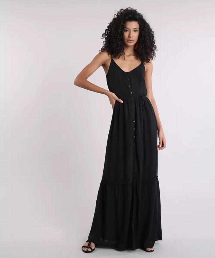 5b3d3f8d01 60 modelos de vestido longo preto para você arrasar em qualquer ocasião
