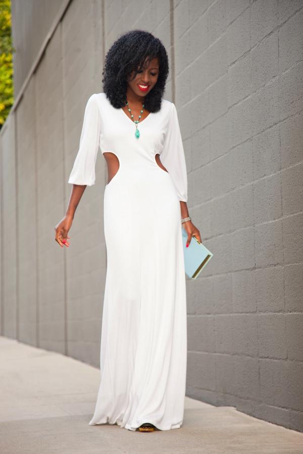 Vestido semi formal de dia
