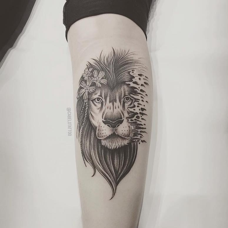 tatuagem de leão inspire se em 80 artes representando o rei da selva
