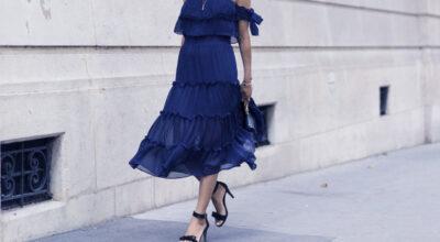 Vestido azul marinho: 50 ideias para utilizar essa peça versátil e democrática