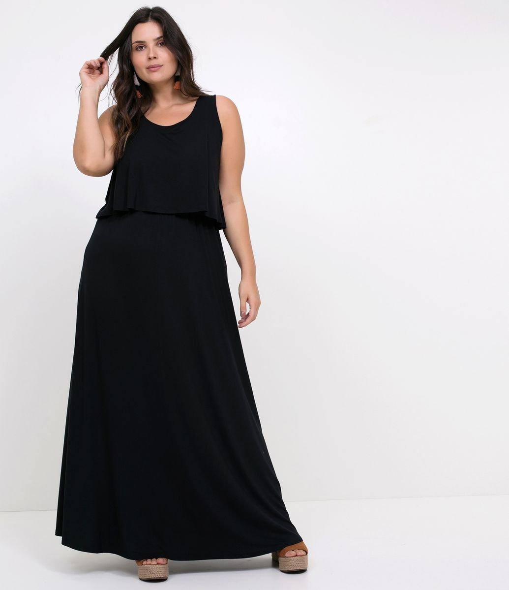 11d85104bf Vestido longo plus size  85 modelos para você compor looks arrasadores