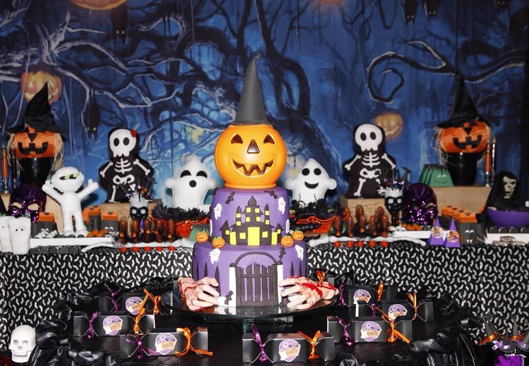 Decoracao De Festa Infantil Tema Halloween.Decoracao De Halloween Tutoriais E 110 Ideias Para Voce Se Inspirar