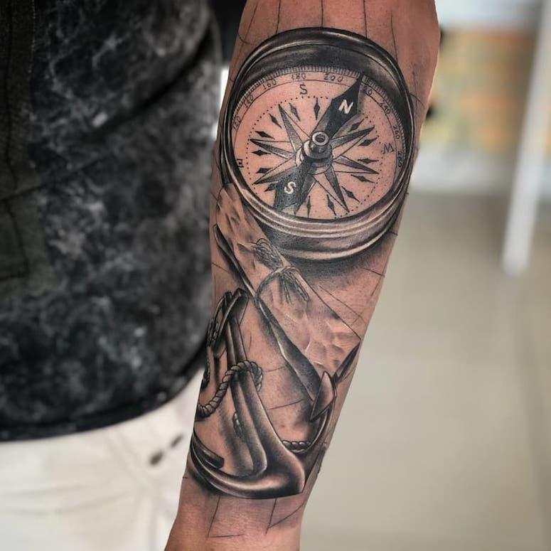 Tatuagem De Bússola 70 Imagens Para Se Apaixonar