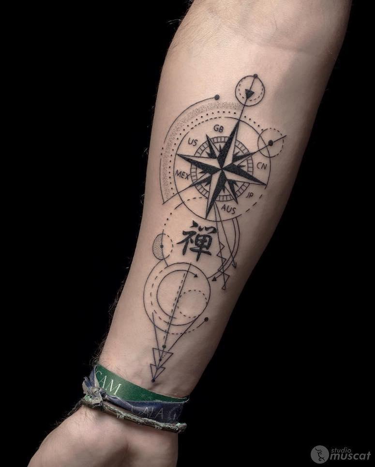 Tatuagem de b ssola 70 imagens para se apaixonar for Tatoo bussola