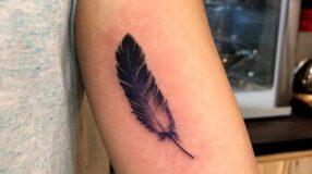 Tatuagem de pena: 90 artes incríveis para você se inspirar