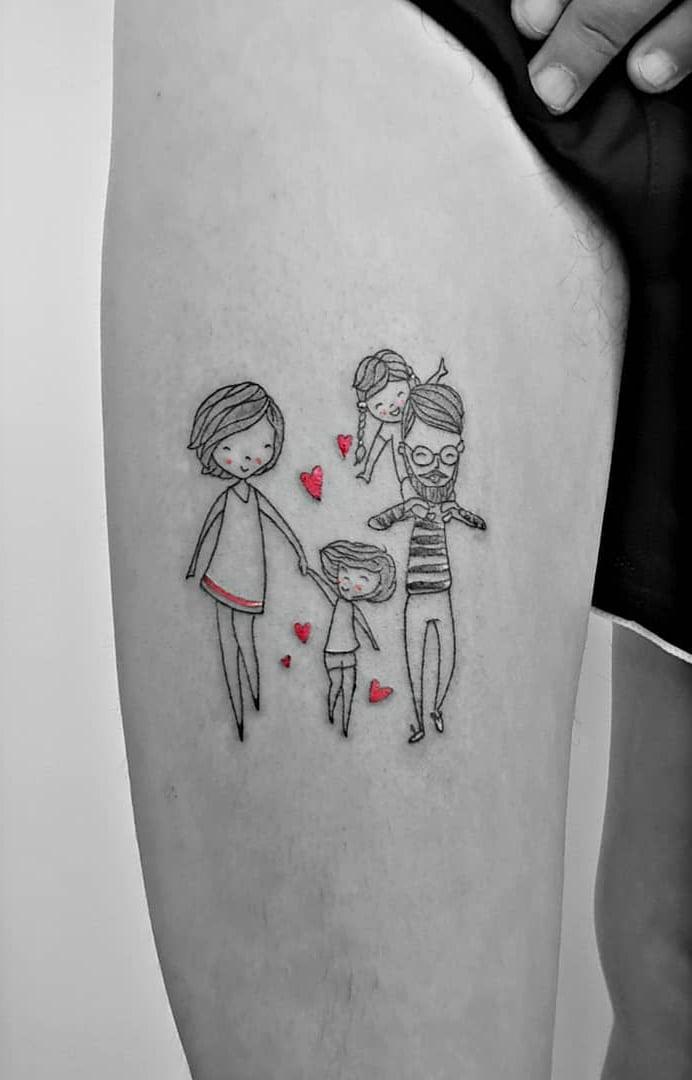 Tatuagem De Fam 237 Lia 90 Op 231 245 Es Para Registrar Todo O Seu Amor border=
