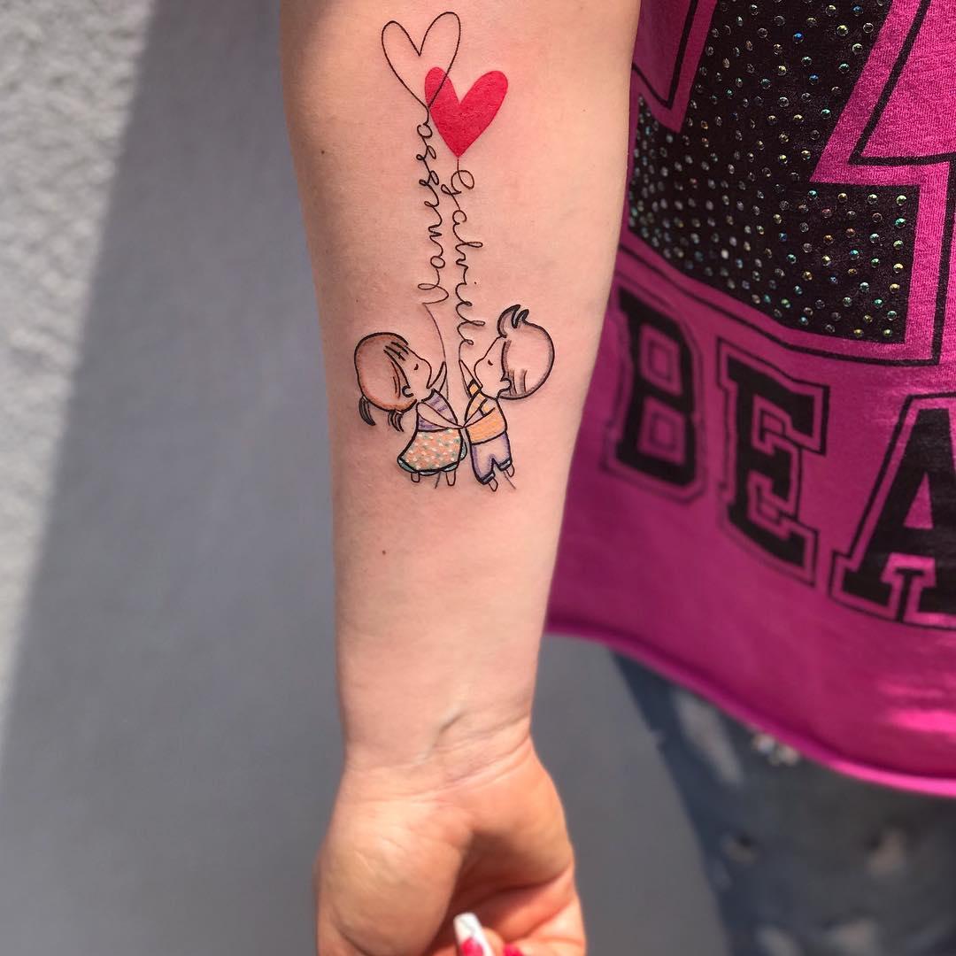 Cute Heart Balloons Tattoo | Beanstalk Single Mums