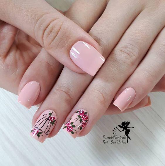 unhas-decoradas-flores-rosa