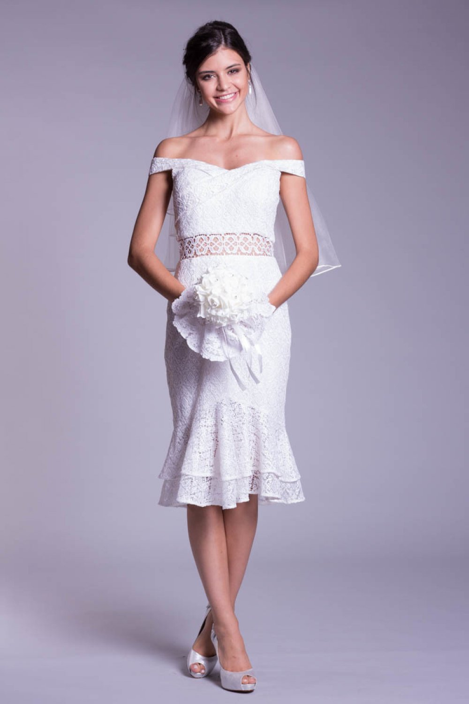 Vestido De Noiva Curto 65 Modelos Charmosos Para Cerimônias