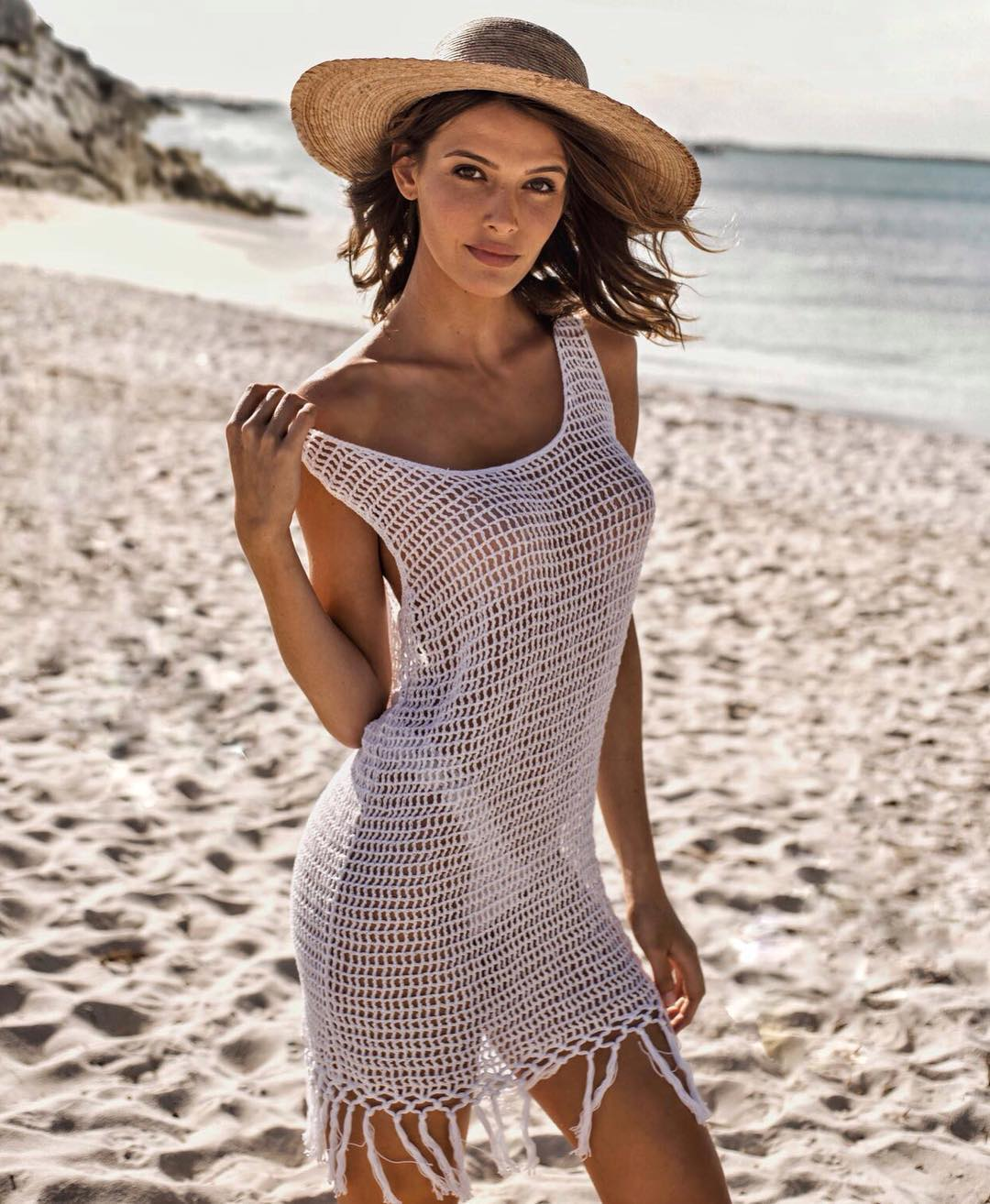 60f6b609d Saída de praia de crochê: 50 modelos delicados e versáteis