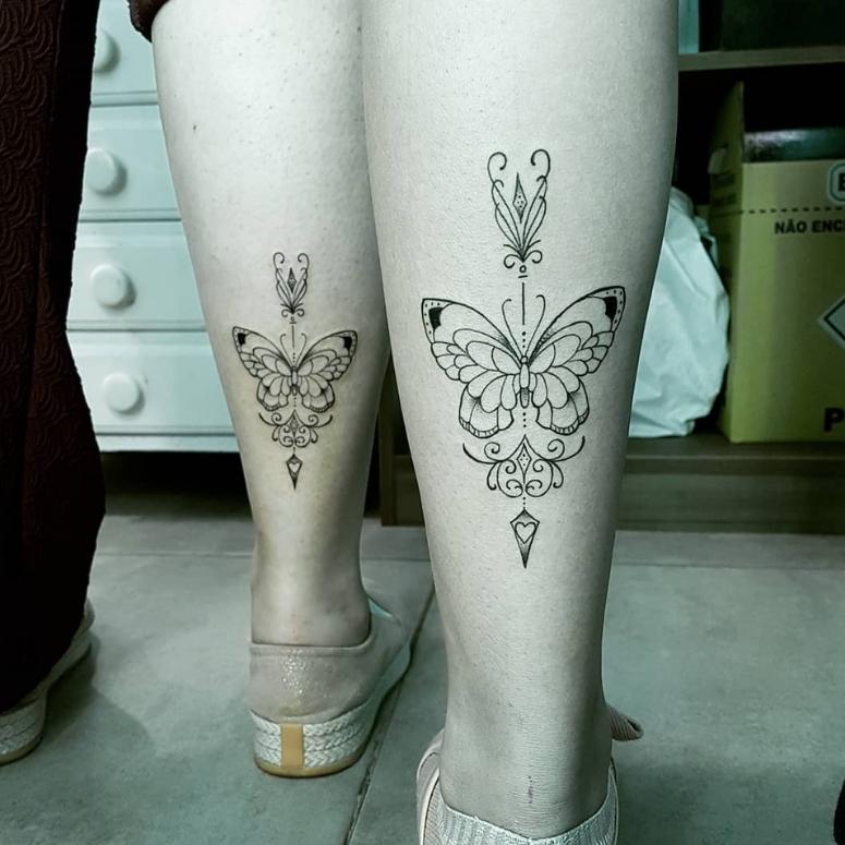 150 Tatuagens Na Panturrilha Para Inspirar Seus Próximos