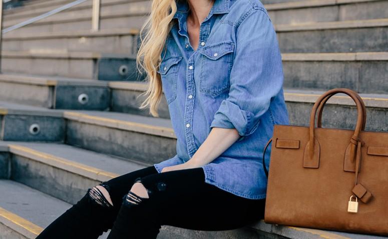 af6857ddc3 Camisa jeans: 55 looks que provam como essa peça é atemporal