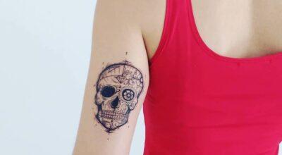 Tatuagem de caveira mexicana: 70 fotos dessa referência pra lá de tradicional