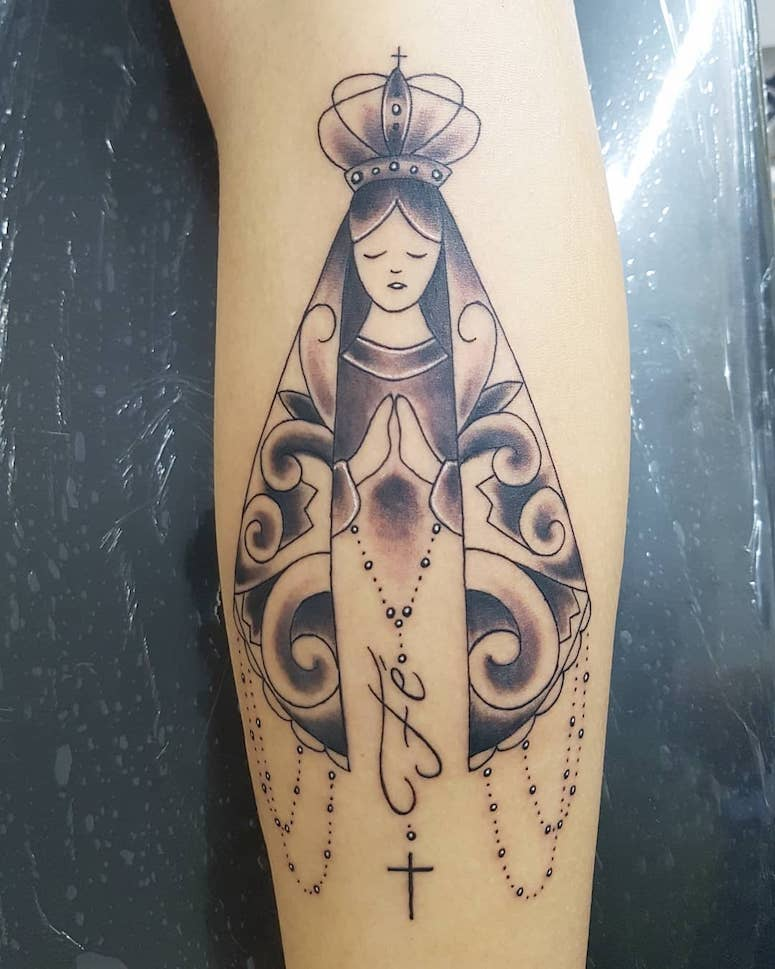 65 Fotos De Tatuagem De Nossa Senhora Que Vao Te Inspirar