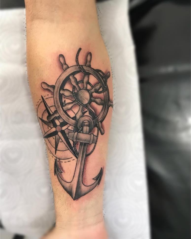 Tatuagem Rosa Dos Ventos 50 Ideias Lindíssimas Do Símbolo
