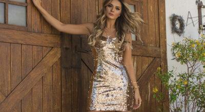 Vestido dourado: 60 modelos para brilhar e arrasar em todas as ocasiões