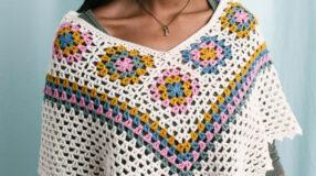 Poncho de crochê: 80 modelos lindos e tutoriais para crochetar o seu já