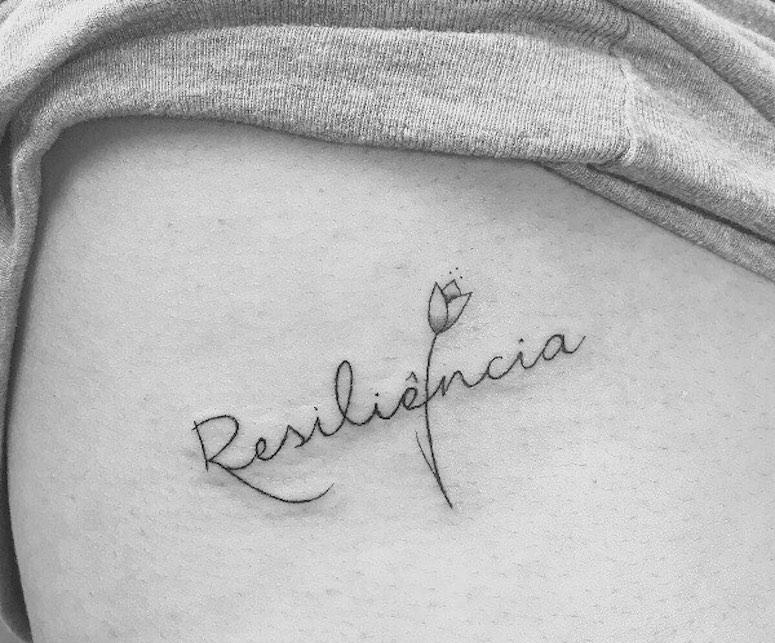 Tatuagem De Resiliência 50 Ideias Delicadas Para Extrair O