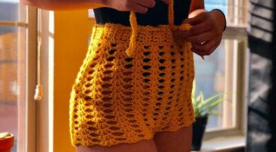 Shorts de crochê: 50 fotos e tutoriais para uma peça supercharmosa