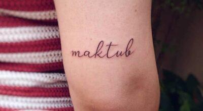 Tatuagem maktub: 60 imagens inspiradoras e seu significado