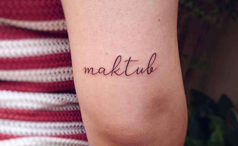 Tatuagem Maktub 60 Imagens Inspiradoras E Seu Significado