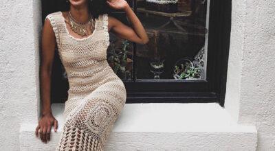 Vestido de crochê longo: a peça artesanal que nunca sai de moda
