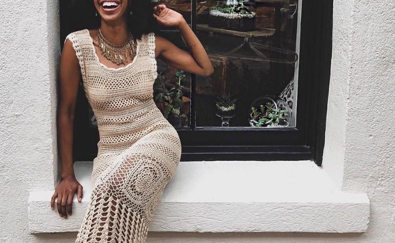 Vestido de crochê longo: 55 modelos e tutoriais para arrasar no look